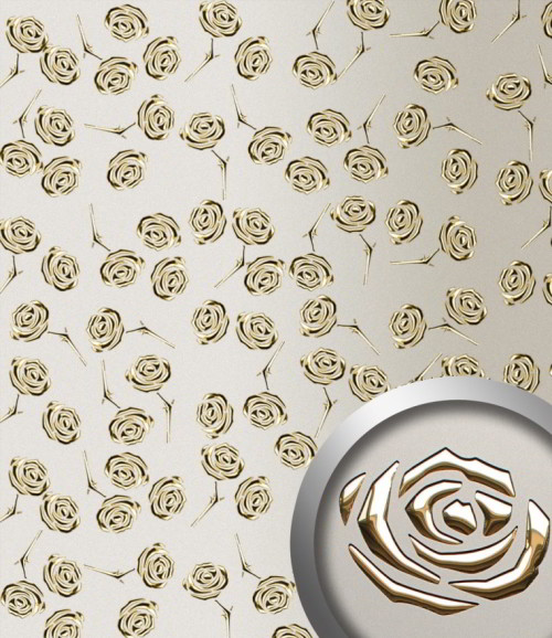 PL 3D ROSES Champagne PF met Gold