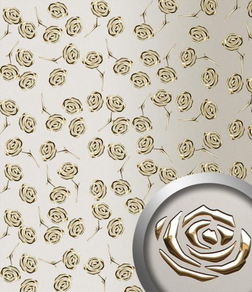 PL 3D ROSES Champagne PF met Gold