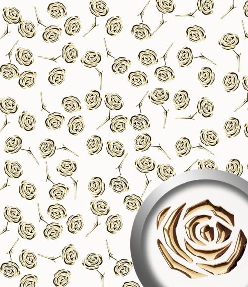 PL 3D ROSES Pearl White Gold