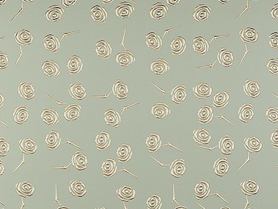 3D Roses Champagne PF met/Gold Sheet