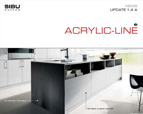 Information about technical innovations: ACRYLIC-LINE