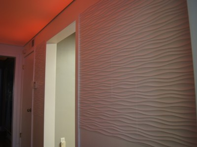 Installation of wavy wall panel #01085