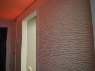 Installation of wavy wall panel #01085