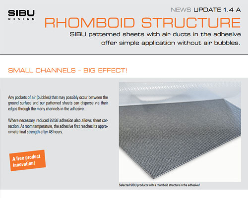 Information about technical innovations: RHOMBOID STRUCTURE