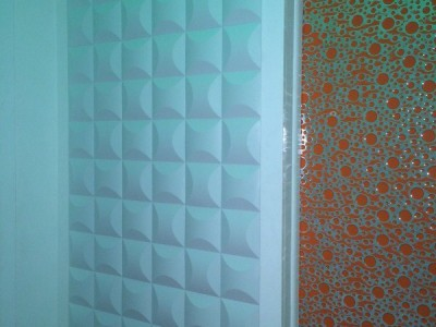 Installation of wavy styling panel #01086